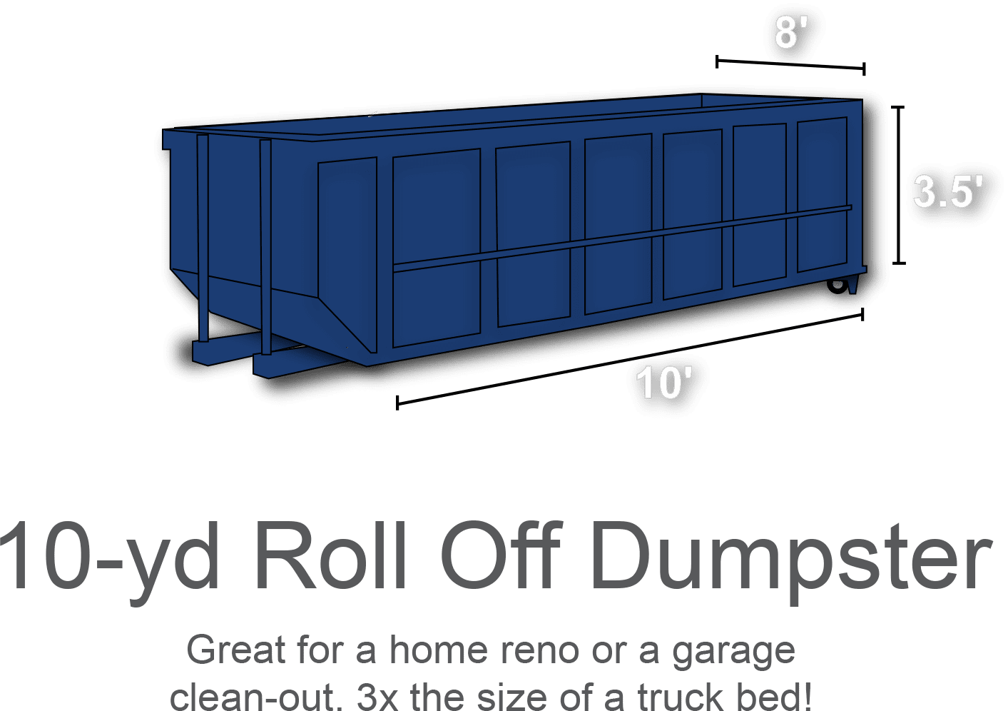 10 yard roll off dumpster rental