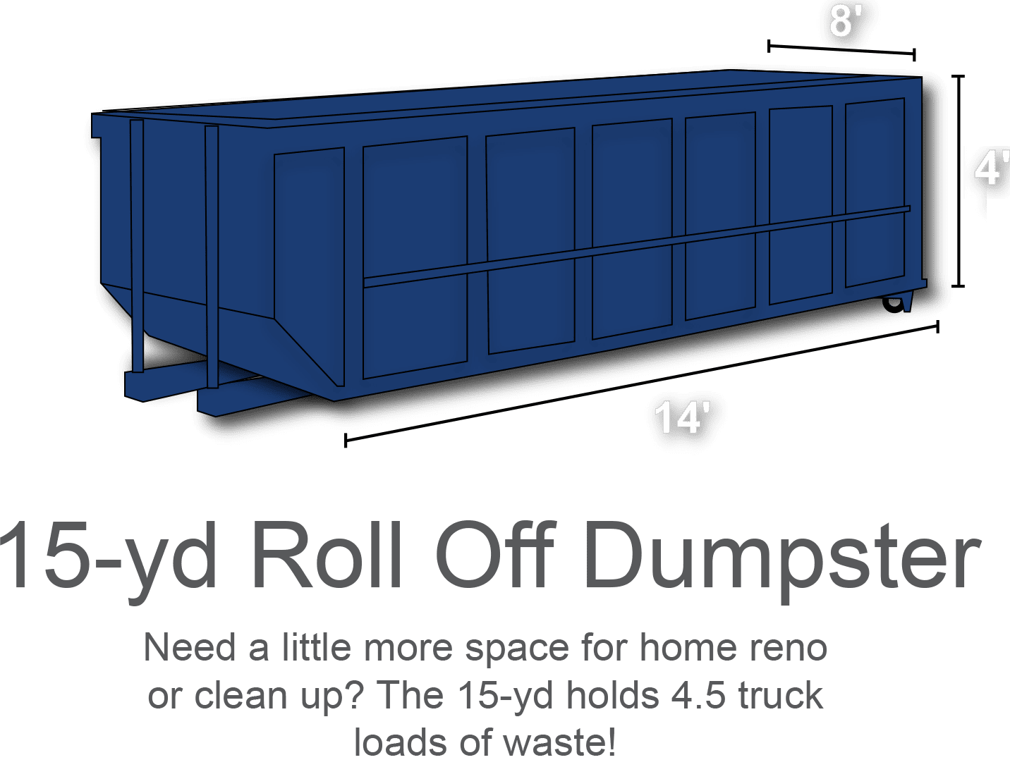 15 yard roll off dumpster rental