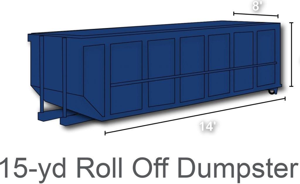 15 yard roll off dumpster rental charlotte