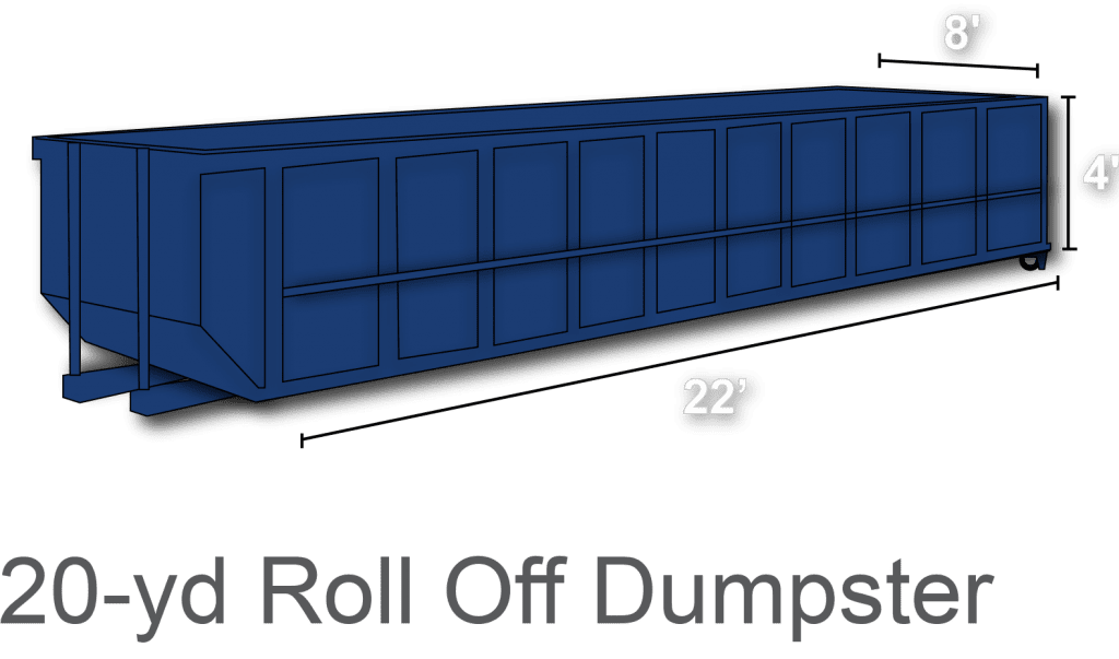 20 yard roll off dumpster rental charlotte nc