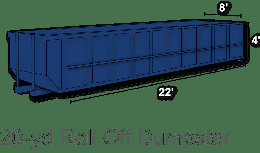 20 yard roll off dumpster rental charlotte nc