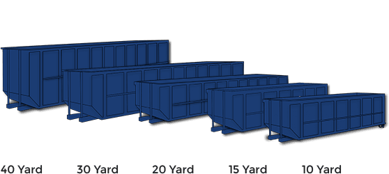 Various Dumpster Sizes