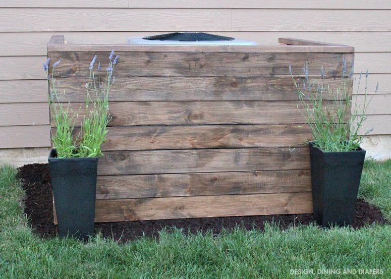 How To Disguise A Unsightly Ac Unit Cover Bargain Dumpster